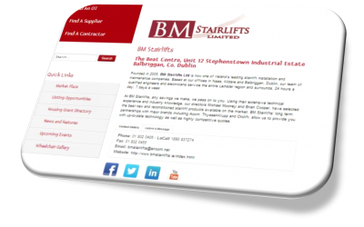 BM Stairlifts on the PrivateOT Network