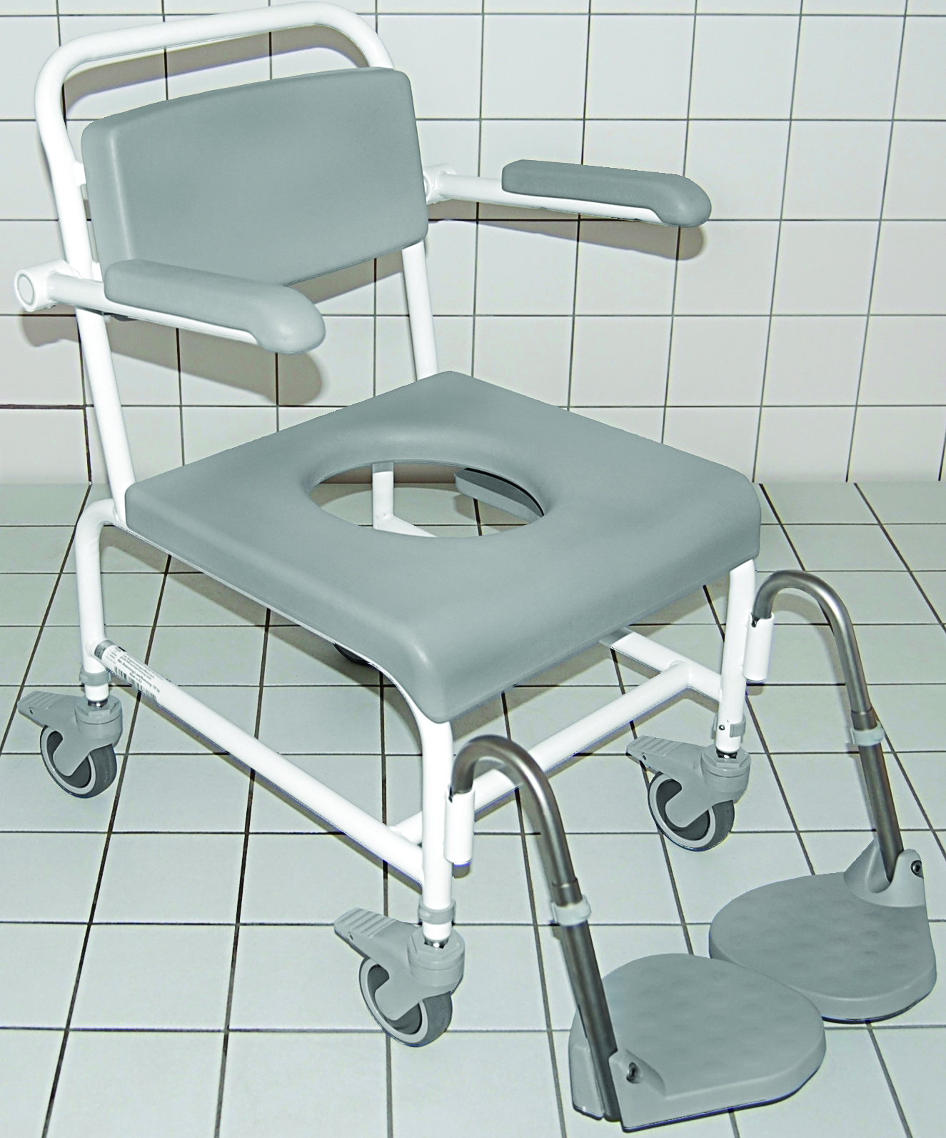 Stainless Steel Height Adjustable Shower/Commode Chairs - OT Network
